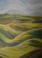 rolling green hills by hillofsand
