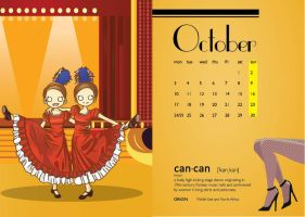 Calendar 2011 (Dances) - October by hyoori