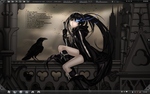 Black rock shooter desktop by geludin