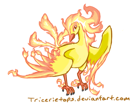 Mega Moltres by TriCerieTops