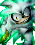 Silver the Hedgehog (Digital painting) by 5catsonebowl