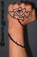 Hand tattoo: Love Between by tribaltyn