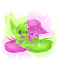 Pink n Green by Yo-Angie