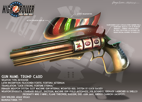 High Roller: Trump Card Concept Art (Gun Profile) by DanSyron