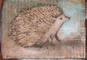 Waiting Hedgehog ATC by SethFitts