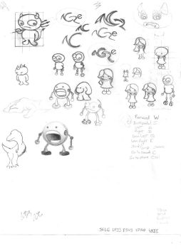 Little characters 2 - Sketch 10 by licenciado-Q