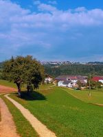 Old tree, small village, beautiful panorama by patrickjobst