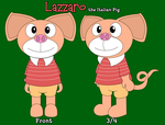 Lazzaro the Italian Pig by CookietheMouse