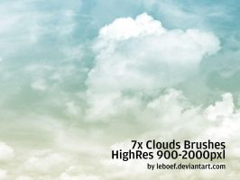 Cloud Brushes HiRes Nr.1 of 5 by leboef