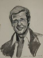 Sir Roger Moore by Paulstered