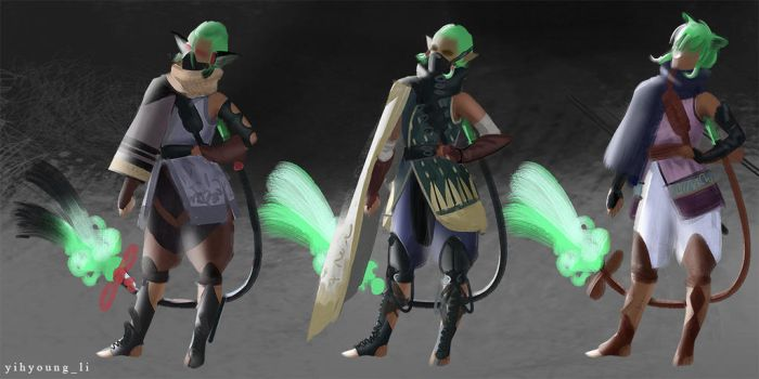 lunar moth character concept by YihyoungLi