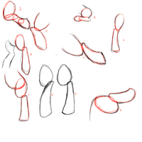 Rear leg sketches for ponies by CeaserTheBrony