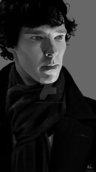 Sherlock Holmes / Krita Painting by theclumsyandshy