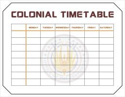 Colonial Timetable by CmdrKerner