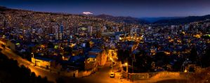 La Paz, Bolivia, nightime pano by MrVERTIGO