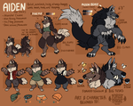 aiden / jack (fursona) ref by ForestFright
