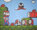 Mario POWs the baddies by Squarepainter