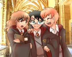 Harry Potter - back in the day by Pandablubb