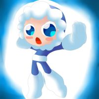 Ice man from megaman powered u by naughtyfudge