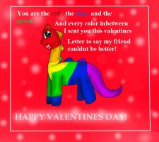 Valentine sent by a rainbow dino! by Ask-Raisinthedino