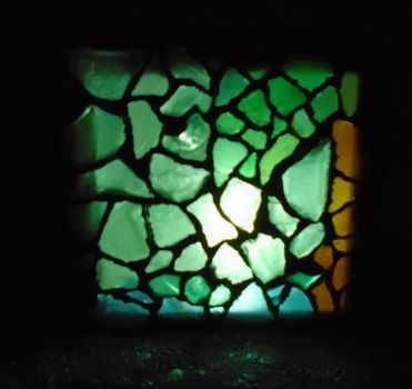 Sea Glass Mosiac Light VI by lizking10152011