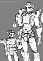 Chromedome and Rewind Sketch 1 by Dutton-Belle
