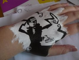 HandArt: Death The Kid by Flowerpower666