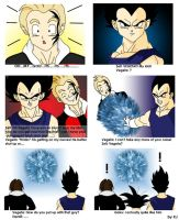 Zell meets his idol Vegeta by MissMinority
