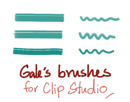 My Custom Brushes for Clip Studio Paint by Galecoroco