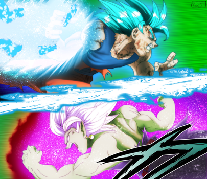 Dragon Ball Super Chapter 25: Goku vs Zamasu by IIYametaII