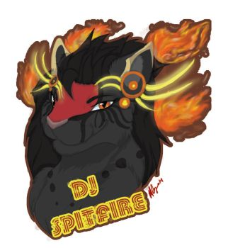 DJ Spirtfire Badge by Commander-ShiningCat