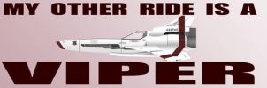 BSG viper bumper sticker by tibots