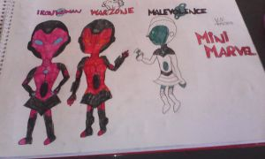 my Marvel OCs as Mini Marvels by VaderNihilus