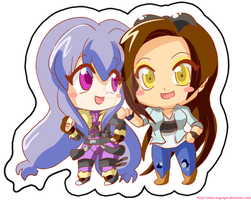 BBOC: Ayla n Mary chibis by Mary-McGregor
