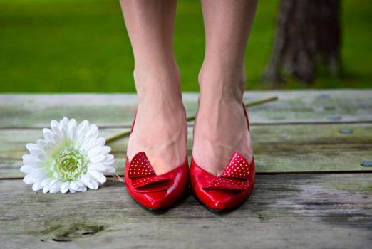 mean red shoes by chuckhead