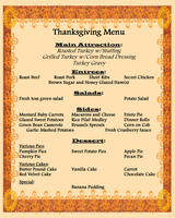 Jackson Family Thanksgiving Menu by ZandKfan4ever57