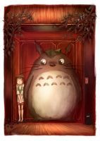 Totoro in Spirited Away by NadiaDibaj