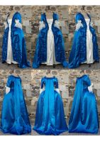 blue robe a la francaise by Janes-Wardrobe