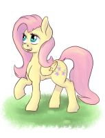Fluttershy Just Standing There by PostScripting