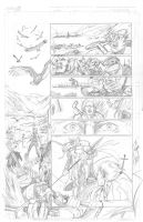 Thor Page 6 Pencils by Theamat