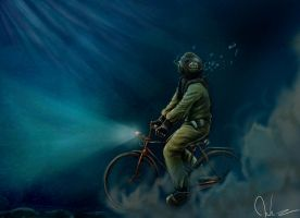 Diver in Bicycle by ACDeCa