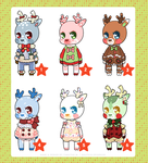 holiday deer adopts - set price ($ or points) by NauticalSparrow