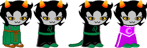 SD - Jade Nepeta Alt Outfits by Shadowgate31