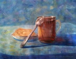 Still life with a cup of tea by AnastasiyaKosenko
