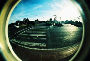 fisheye april - pedestrian by jcgepte