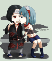 Britt and Itachi by tshuki
