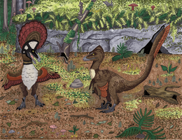 Courting Deinonychosaurs by SlateGray