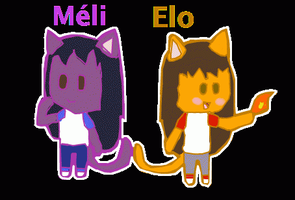 Meli and Elo by ElodieTheFox051400