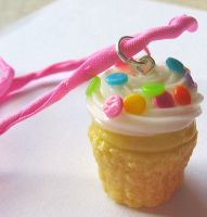 Custom Birthday Cupcake Charm by MigotoChou