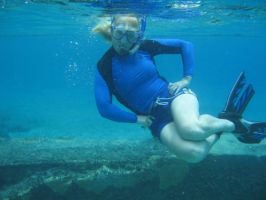 My mom Snorkling by Cookie96